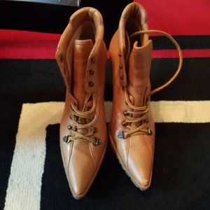 Vintage Michael Kors lace up ankle booties